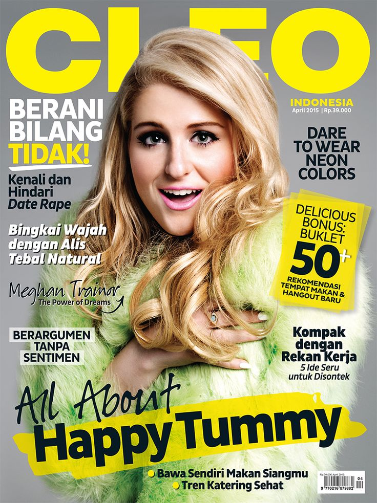 CLEO Indonesia - April 2015 #MeghanTrainor + Eat Out Booklet