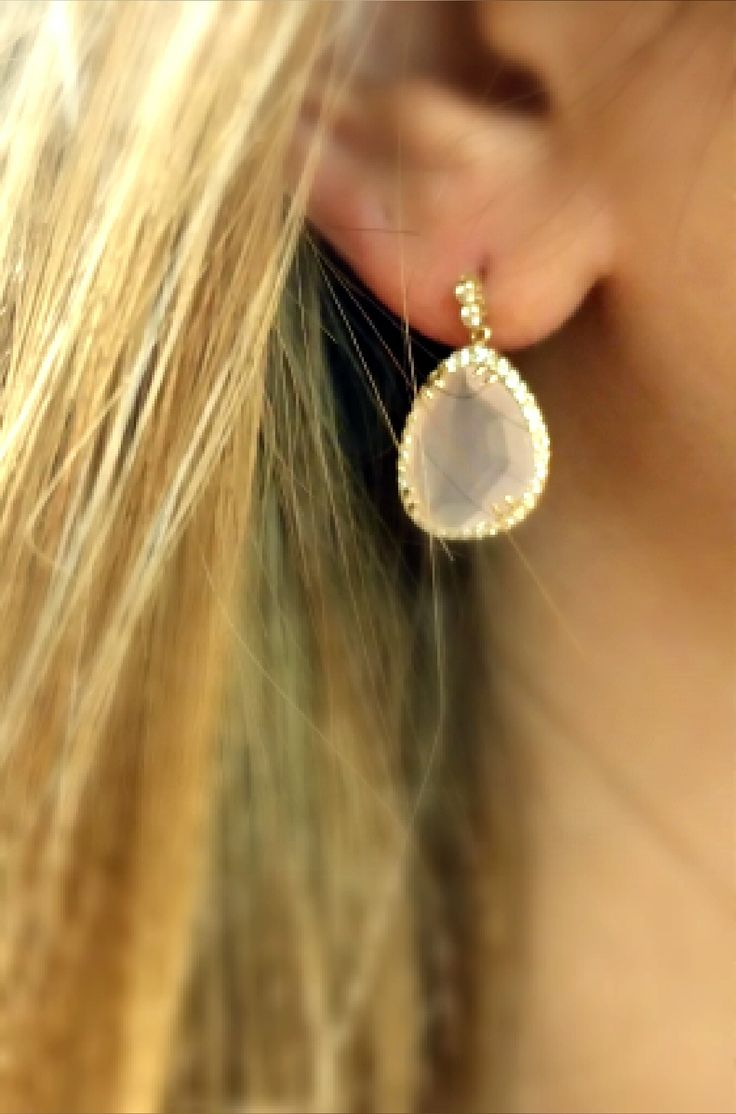 gold earrings with stones 14k