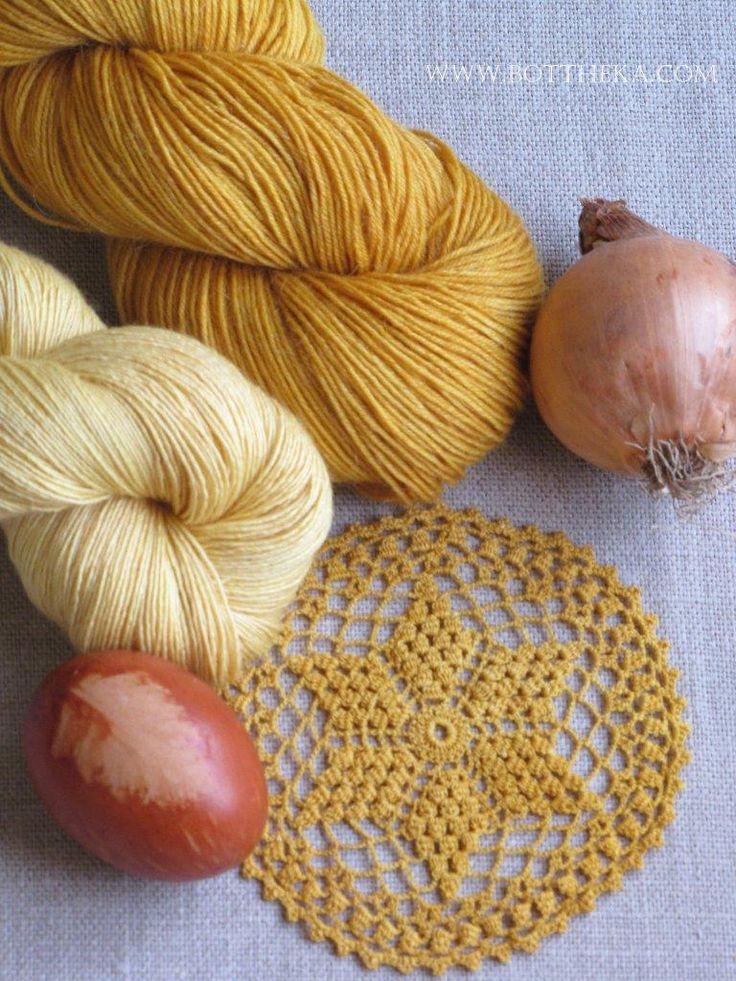 vegetable dyeing, onionskin, merino, bamboo, silk, wool, yarn http://bottheka.com/en/allium-cepa