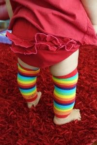 Too cute! Love baby leg warmers #HerFinds #Baby
