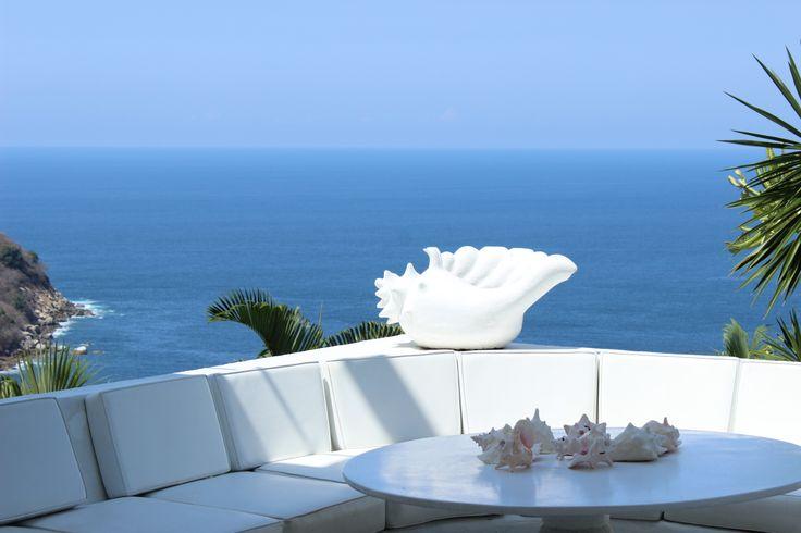 Vista a mar abierto, Casa INGRID, Fracc. Las Brisas, Abril 2013 www.casasacapulco.com