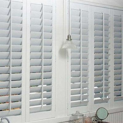 February Sale: 10% Off All Shutters on Blinds.com. Pictured: Blinds.com WoodLite Shutters