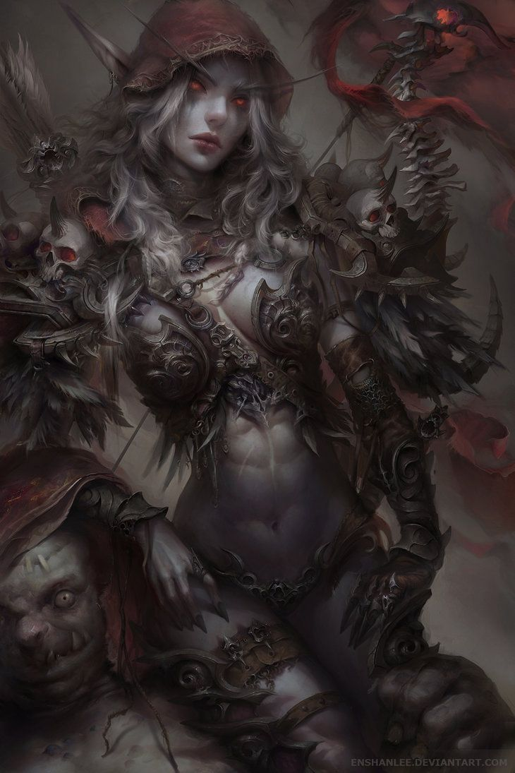 Sylvanas Windrunner (Dark Elf Ranger Girl) by Enshanlee.deviantart.com on @DeviantArt