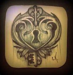 Filigree Heart Tattoo Designs   Heart Shaped Lock Tattoo Practice Skin . Lock cradled inside filigree ...