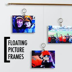 These easy-to-construct floating picture frames are as unique as they are stylish; perfect for any space.