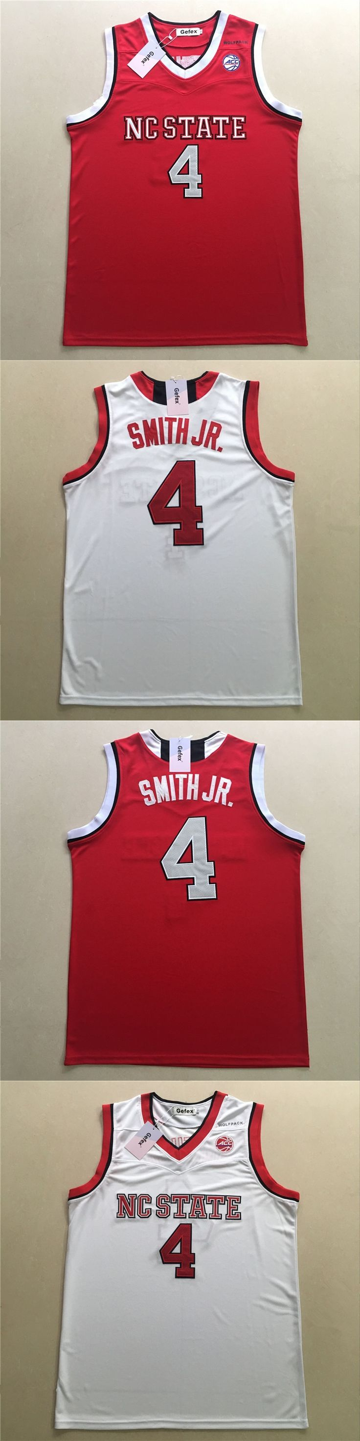 State Wolfpack Dennis Smith Jr. Movie jerseys CC Road  white red Jersey free shipping