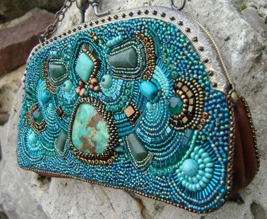 Maya Bead Embroidered Bag