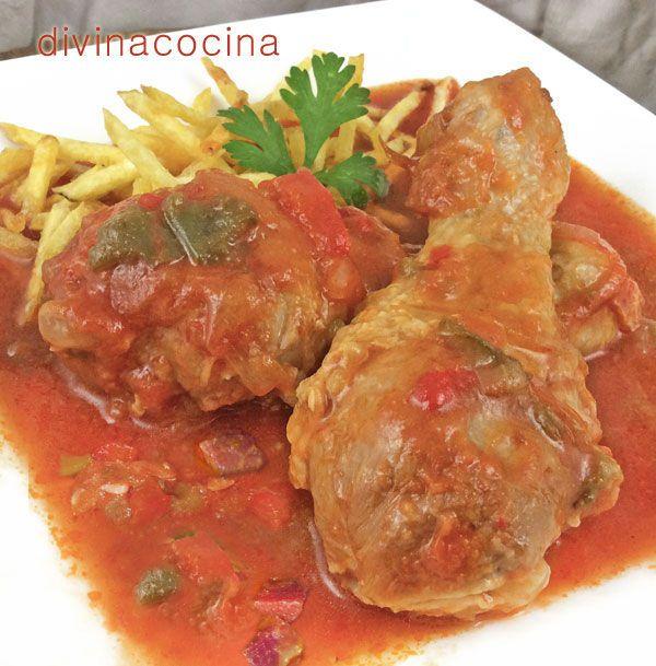 Pollo al chilindrón < Divina Cocina