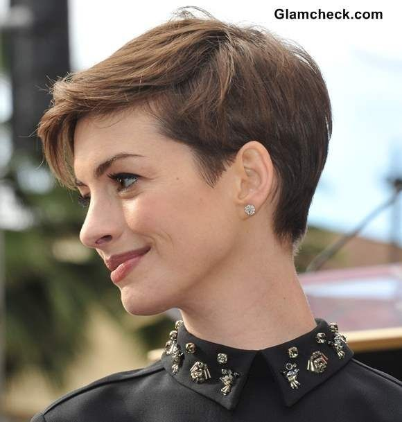 Anne Hathaway pixie haircut  *****i like the back, maybe even a tid bit shorter?