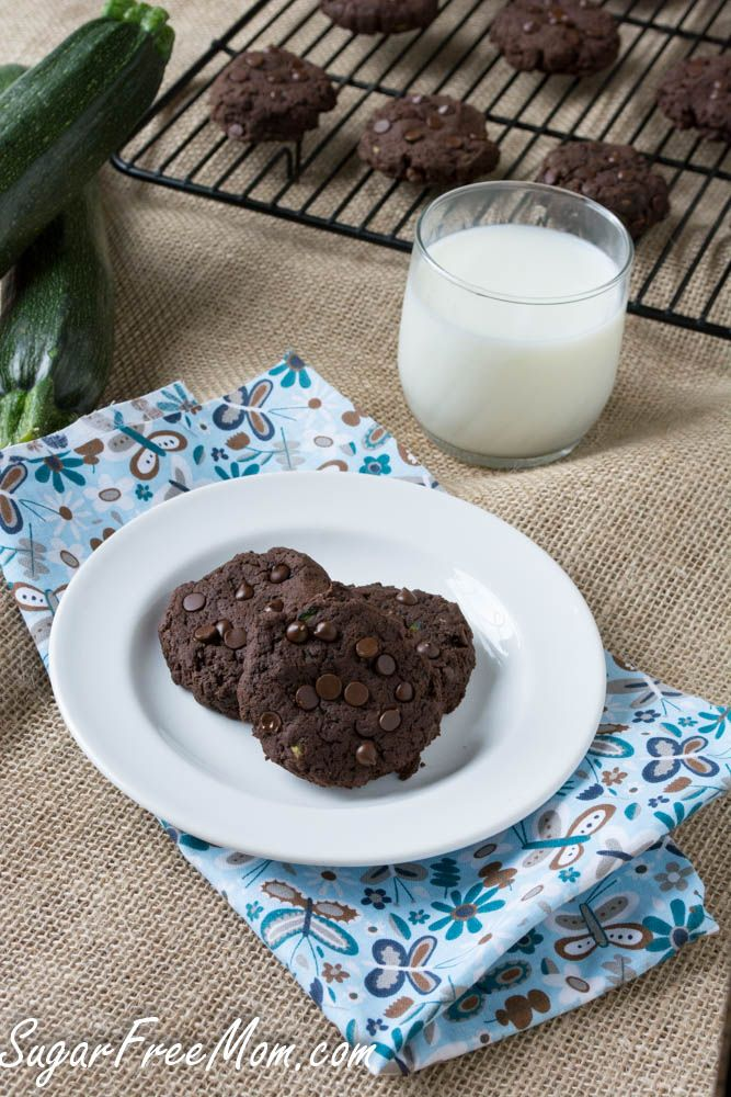 Sugar & Gluten Free Chocolate Fudge Zucchini Cookies