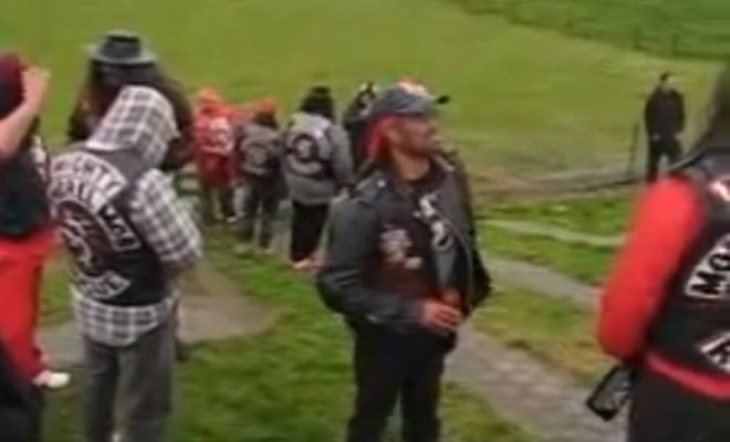 Rewind Of The Day: Mongrel Mob Member Attending His Brothers Funeral Has The Worlds Most Contagious Giggle! - Gorilla Gang