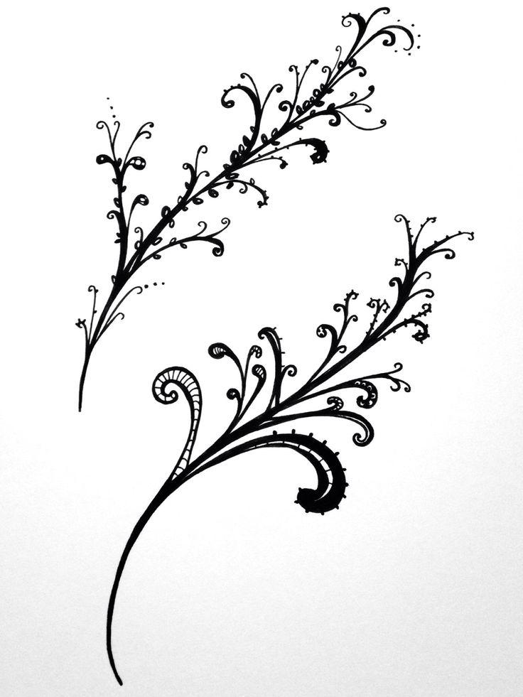 Fine leaf doodle