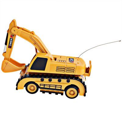 WLtoys 5010 Mini Builder Truck Action Trestle Excavator Toy with Radio Control - Yellow #hats, #watches, #belts, #fashion, #style