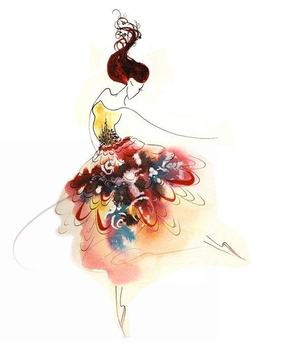 Tiny Dancer   Olga Cuttell  #illustration