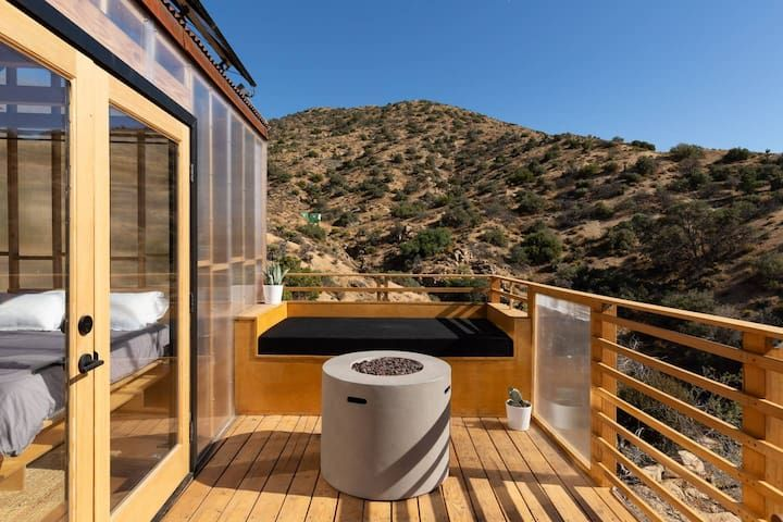 Yucca Valley Stays Airbnb Modern Cabin Indoor Hot Tub Desert Homes