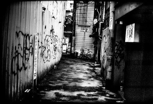 "Off-Street ""Osaka-Japan""  *Leica M6 Titanium (0.85 modified) *Canon 50mm f/0.95 lens (modified for Leica-M)"
