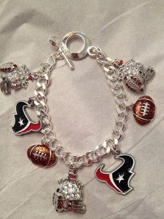 Houston Texans bracelet by Beckyschunkystuff on Etsy