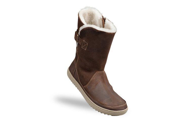 Bottes Birkenstock® WOODBURY couleur brun pour femme en Fourrure et cuir velours (brun Foncé) - BK445163 | Birkenstock France