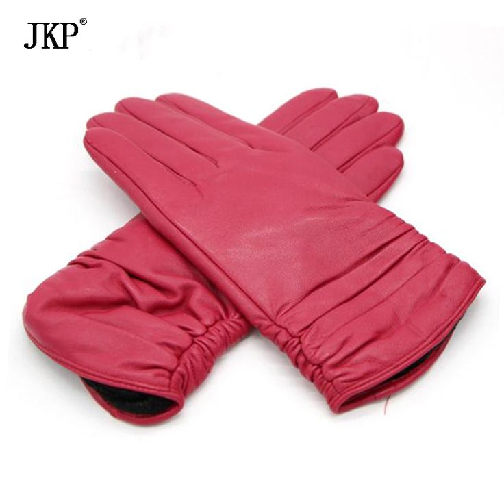 ==> [Free Shipping] Buy Best Genuine Leather Women Gloves High Quality Gloves Winter Sheepskin Glove Online with LOWEST Price | 32811837928