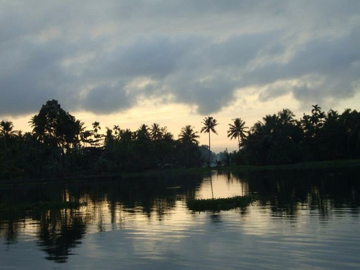 Sunrise at Alleppey Backwaters; Kerala - India