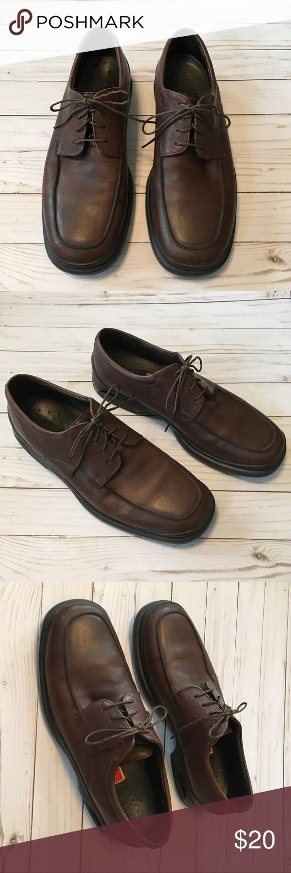 Cole Haan dress shoes. Size 9.5 Brown leather men's Cole Haan dress shoes. They have Nike Air soles. Size 9.5 Cole Haan Shoes Loafers & Slip-Ons