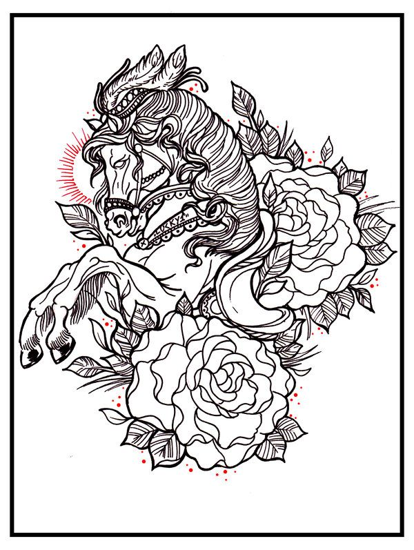 Owl Tattoo Flash Outlines