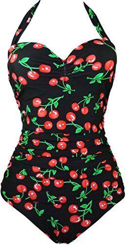 TDOLAH Damen Vintage Retro Neckholder Badeanzug one-piece groß Größe M-3XL (M, Kirschen Schwarz) TDOLAH http://www.amazon.de/dp/B012RNUVX8/ref=cm_sw_r_pi_dp_a8Gfxb1YTZ2DN