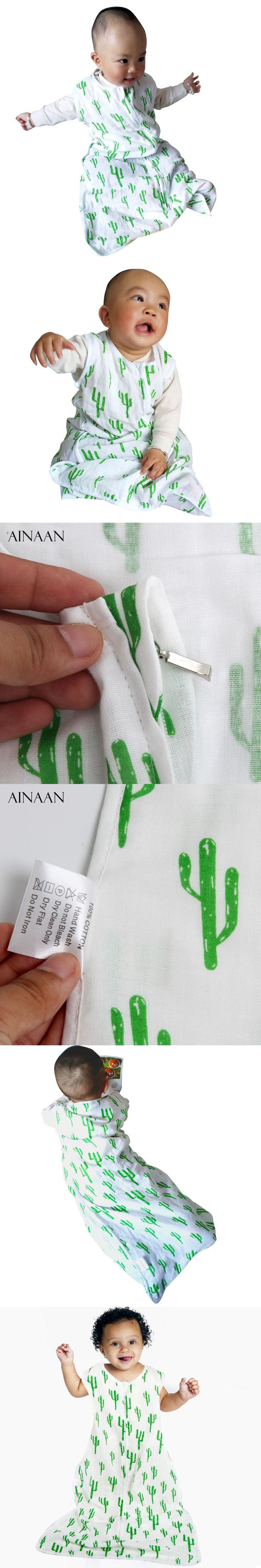 AINAAN SleepSack 100% Cotton Muslin Sleepsack Swaddle and Wearable Blanket Gift For Boys, Girls, Unisex,Baby Sleeping Bag