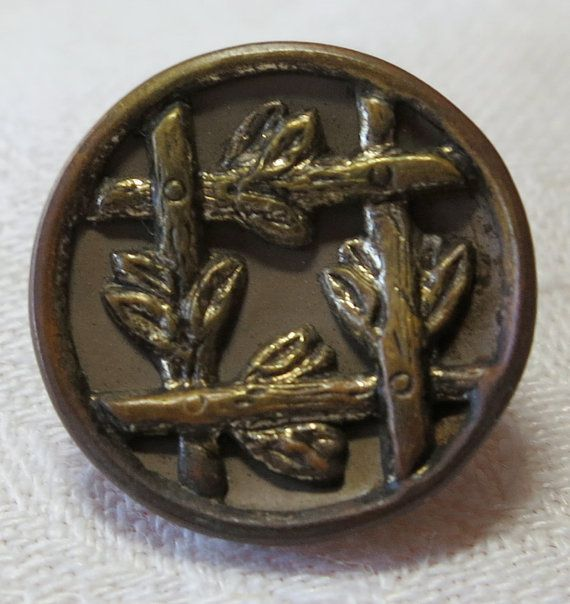 Sm Vintage metal button 0.75ins across by ButtonsAndTreasures
