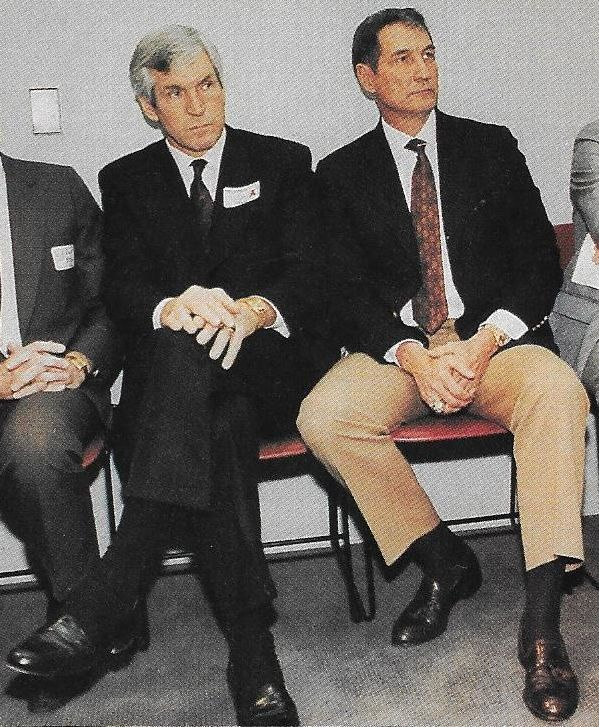 "Happy Birthday (March 2) to former Cowboys assistant coach GENE STALLINGS! Gene was with the Cowboys from 1972-85. Here is Gene (pictured at right) with fellow Cowboy legend Lee Roy Jordan!! This picture appeared in the January 22, 1990 issue of ""Sports Illustrated""."