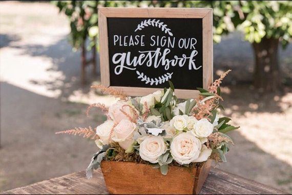 Chalkboard sign / Customized sign / Gift table by SugarAndChicShop