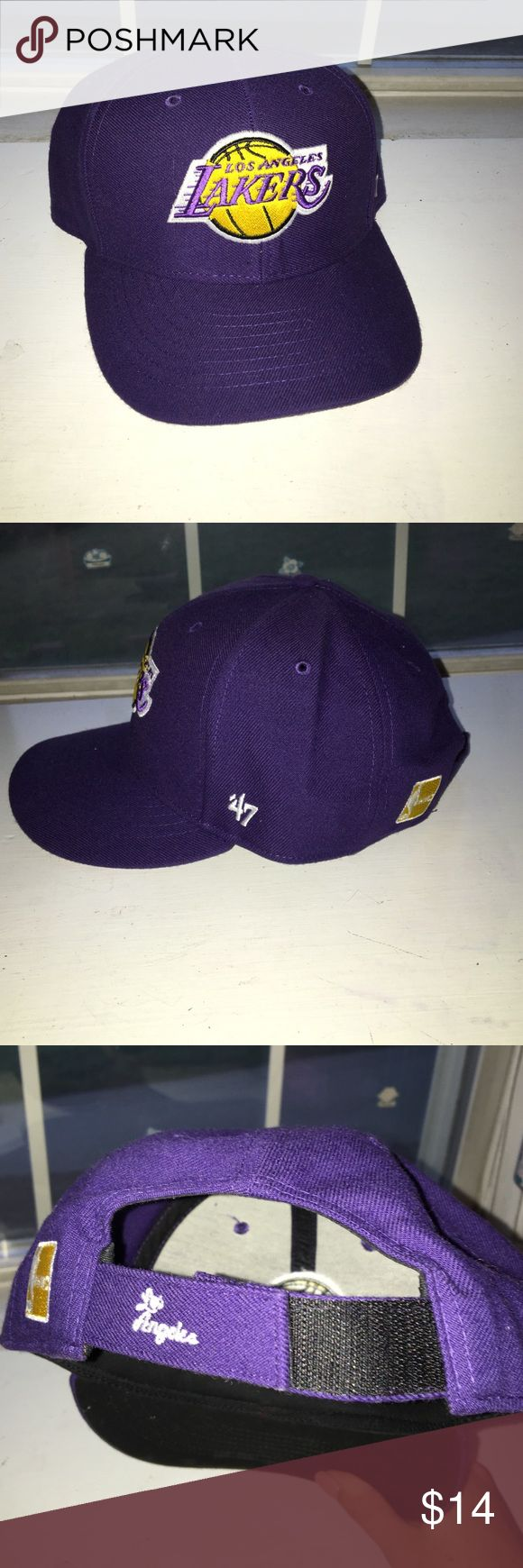 Los Angeles Lakers Baseball cap New, never worn purple LA lakers hat 47 Accessories Hats