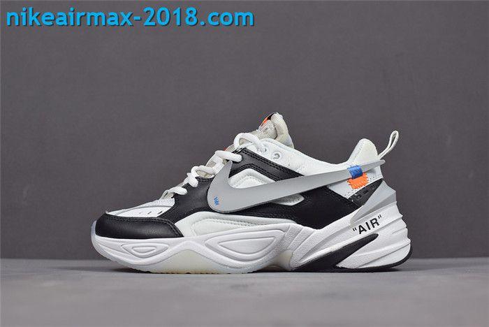High Performance Off-White x Nike M2k Tekno AO3108-062 Mens Sport Shoes  White Black Gray 862ab7e87185