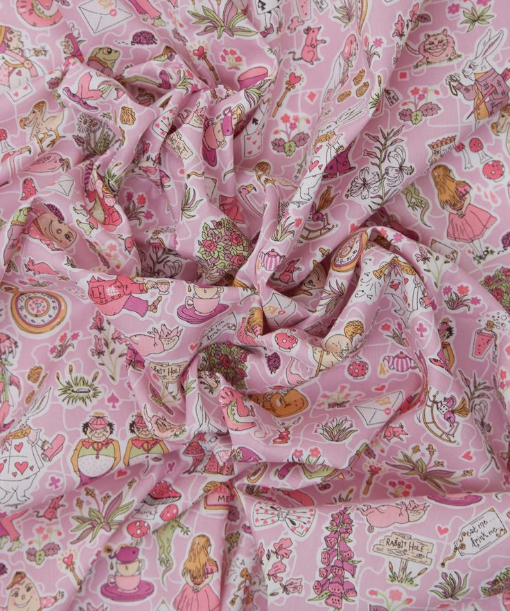 alice in wonderland liberty fabric - Google Search