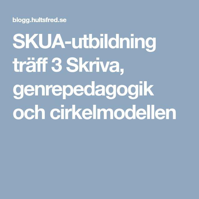 SKUA-utbildning träff 3 Skriva, genrepedagogik och cirkelmodellen