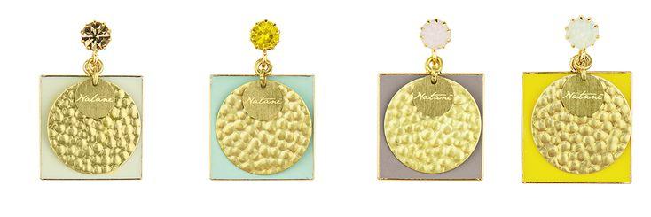 Natanè Planet earrings with customised enamels. #earring #orecchini #orecchino #colors #cream #amethyst #turquoise #yellow #woman #fashion #style #outfit #swarovski #jewel #bijoux #crema #panna #ametista #turchese #giallo #girl #natanè