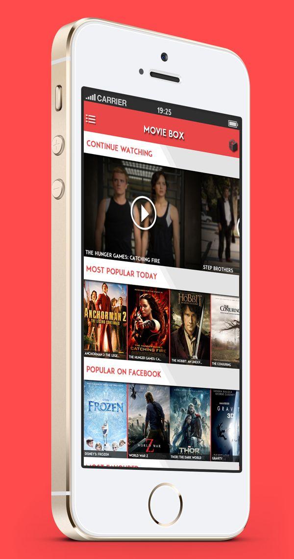 MovieBox App Concept by Max Carey, via Behance