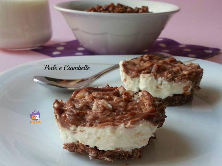 MINI CHEESECAKE NUTELLA E CEREALI - Ricetta senza cottura