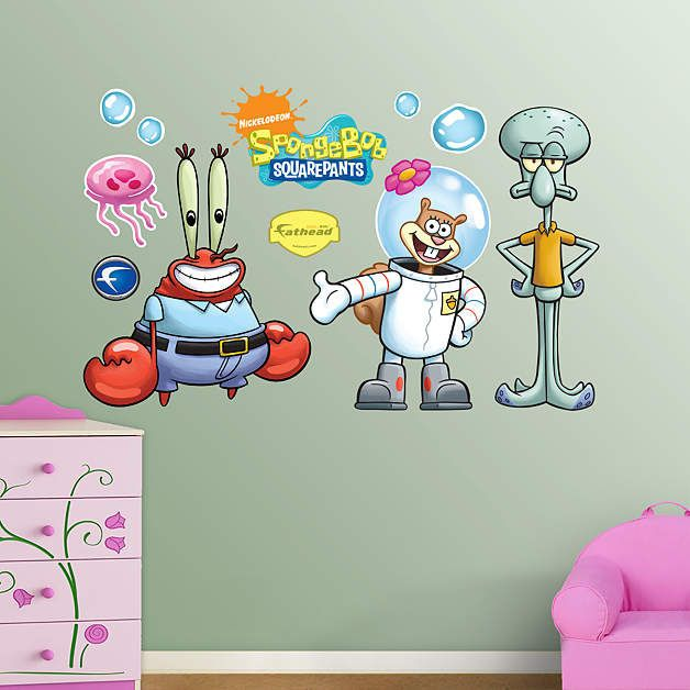 Best Nickelodean Wall Decals Images On Pinterest Wall Decals - Spongebob wall decals