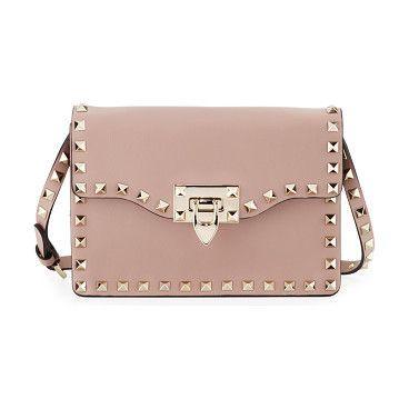 Valentino Small Rockstud Flap Crossbody Bag