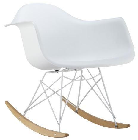 Krzesło na płozach fotel bujany MONDI biały