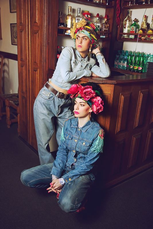 FRIDOMODA Photographer - Anastasia Kashina. Style & make up - Kristina Melnik. Models - Antonina Guretskaya, Kristina Melnik.