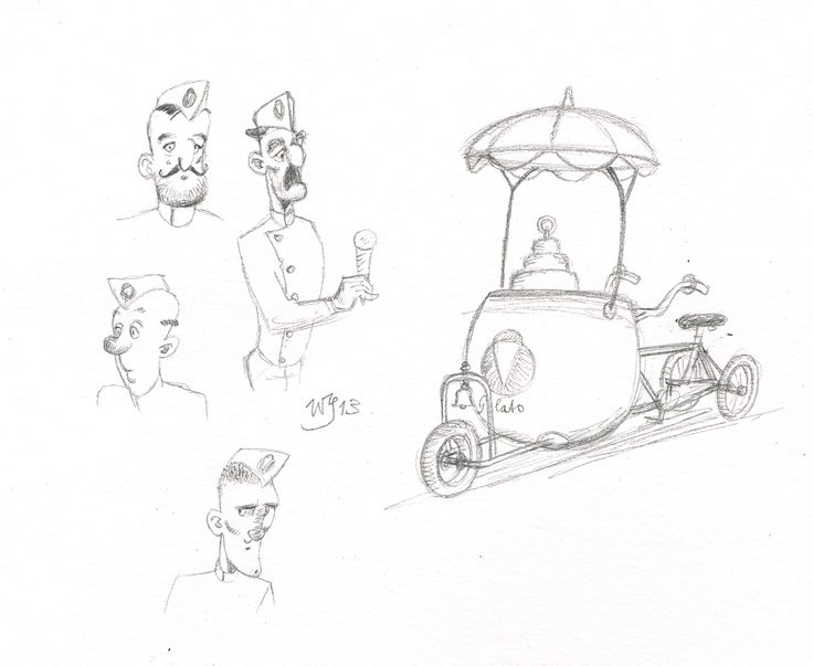 Character design for story 'of the old painter and the see' written by Marc Legendre