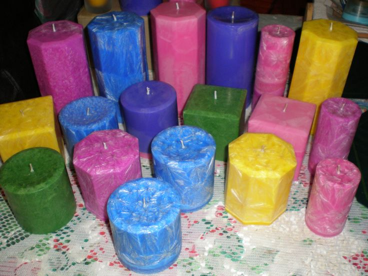 More pillar candles.