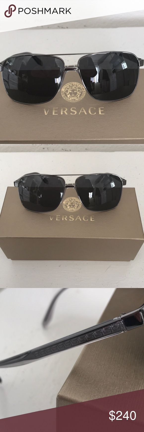 ❌🎄SALE🎄❌ NEW VERSACE MENS SUNGLASSES. ❌🎄SALE🎄❌ NEW VERSACE MENS SUNGLASSES 🕶 MADE  IN ITALY.MOD. 2174 1001/87 59-13 145 3N. TITANIUM FRAME. Versace Accessories Sunglasses