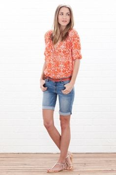 women's bermuda shorts outfits - Google Search