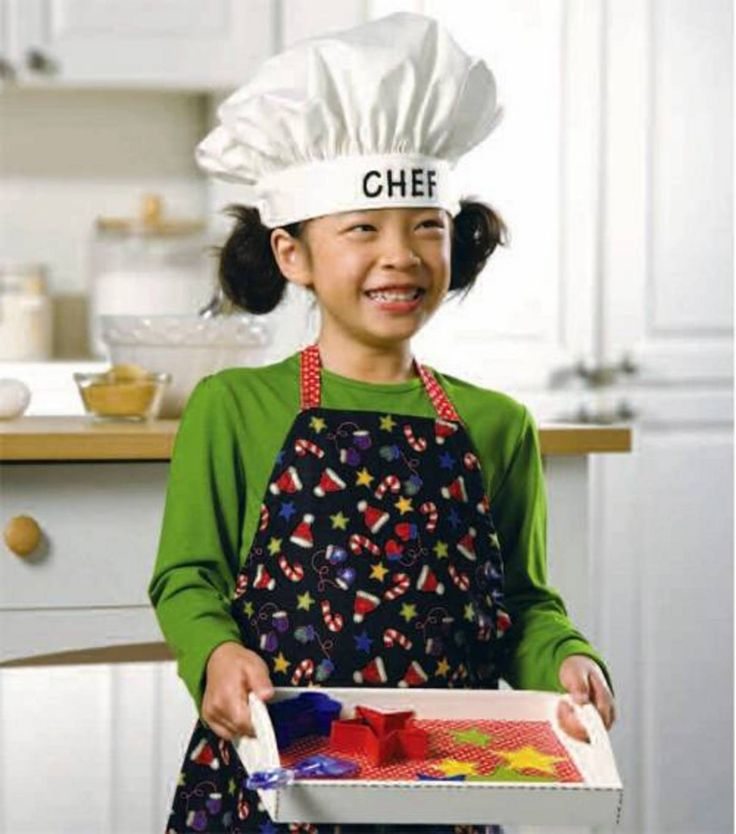 child 39 s apron chef hat bakers tray at sewing pinterest children s and apron. Black Bedroom Furniture Sets. Home Design Ideas
