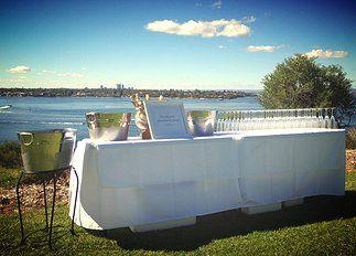Bubbles with a view. Perth wedding.  www.gatherd.com.au