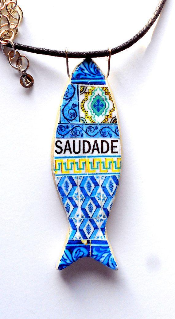 Portugal Antique Azulejo Tile Replica SARDINE Sardinha by Atrio, #Portugal #porto #Portoholidays