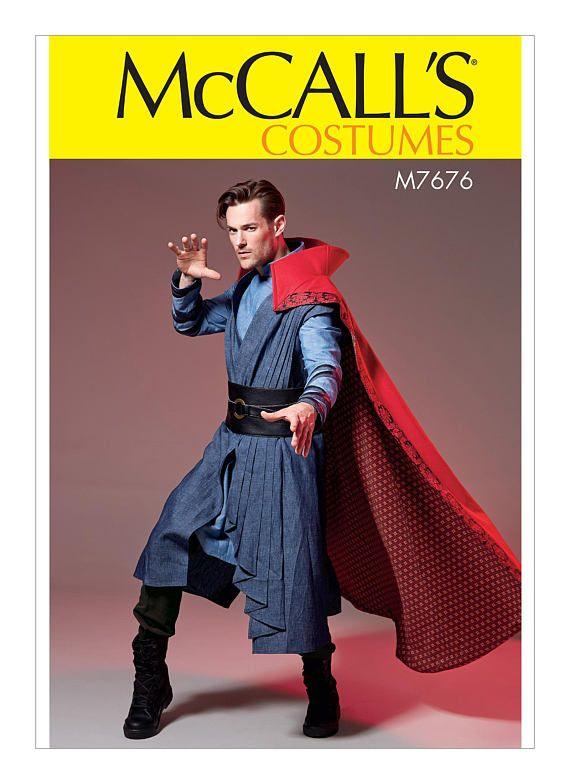 da583dc074 Sewing Pattern Mens Doctor Strange Costume, McCalls Pattern M7676 ...